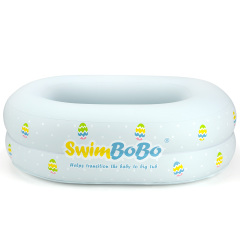 Inflatable Bathtub for Baby Travel Bathtub Seat with Anti-Sliding Saddle Horn Recommended Age 3 to 24 Months