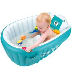 Inflatable Bathing Tub For Toddler,Non Slip Safety Thick Cushion Central Seat,Portable Travel Seat Baths Baby Swimming pool For 0-5 Years