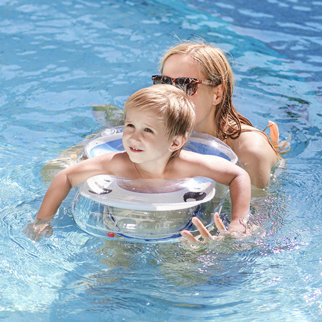 Baby Pool Float Inflatable Baby Swimming Ring Baby U-Shaped Anti-Rollover Underarm Float for Swimming Pool and Bathtub