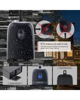 スマートWiFi屋外プラグ、Alexa、Google Home、IFTTT、タイマーおよびリモートコントロールと互換性のあるスマートコンセント、IP55防水、過電流保護、エネルギー監視付きスマート屋外スイッチ