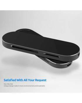 USB CハブアダプターUSB 7ポート付きアルミニウムスリムUSB C 1-in-3.0リーダーTF SDカードリーダータイプC耐摩耗性ミラー表面電力供給MacBook Pro Phoneに対応他のUSB Cデバイス