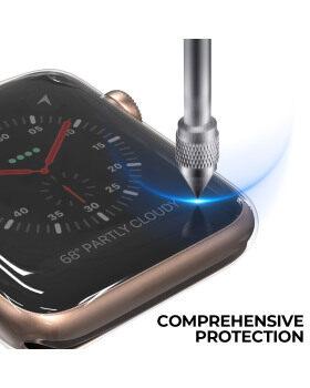 [2パック] Apple Watchスクリーンプロテクター用の超薄型ケース、42mmシリーズ1/2 / 3HDクリアタッチスクリーンプロテクターオールラウンドソフトTPUバンパーカバーブラック&トランスペアレント