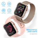 Wolait Case Compatible with Apple Watch Screen Protector Series 5 Series 4 44mm, 2 Pack Clear Ultra Thin iWatch 44mm Screen Protector with Soft All Around Protective Case (Clear, 44mm)