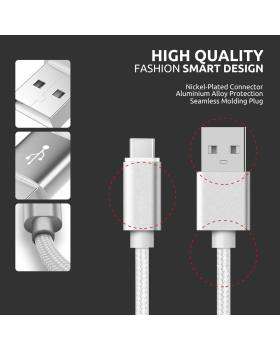 USB Type-C Cable, USB C to USB A Charger USB Syncing Nylon Braided Fast Cord Charger Compatible for Samsung Galaxy S9 S8 Note 8, Pixel, LG V30 G6 G5, Nintendo Switch, OnePlus 5 3T - 3 Pack