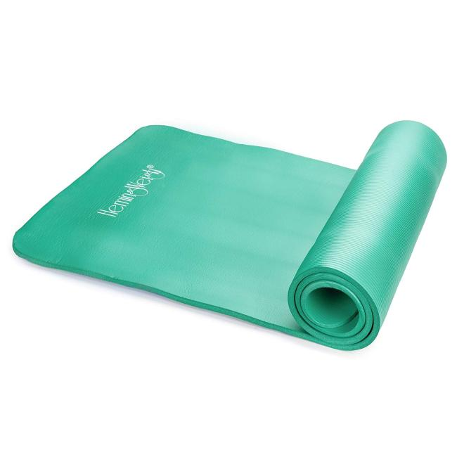 1/2-Inch Extra Thick High Density Exercise Yoga Mat with Carrying Strap for Exercise, Yoga and Pilates