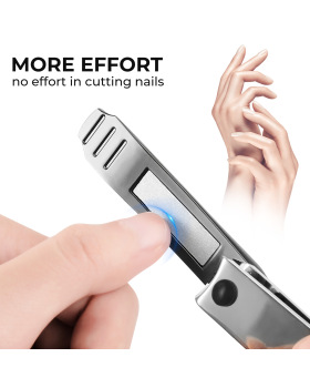 Nail Clippers Set Fingernail & Toenail Clipper Cutter, 2PCS No Splash Nail Clippers Cutter Set, Good Gift for Men & Women