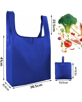 (5pack)Reusable Grocery Bags, Ripstop Polyester Reusable Shopping Bags, Washable, Durable and Lightweight Grocery Tote Foldable into Attached Pouch, (Royal,Purple,Pink,Orange,Teal)