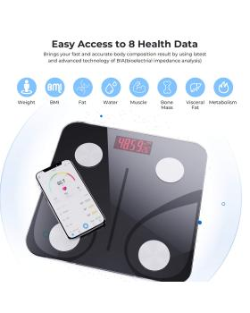 Vinselected Smart Body Fat Scale Smart BMI Bluetooth Scale Digital Bathroom Body Composition Analyzer Professional Wireless Weight Scale with Smartphone App 396 lbs/180kg