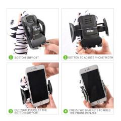 Cartoon  U Shape Travel Neck Pillow  Phone Holder Neck Pillow Free Your Hand