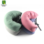 Colorful Travel Neck Pillow With Microbeads Filling For Airplane