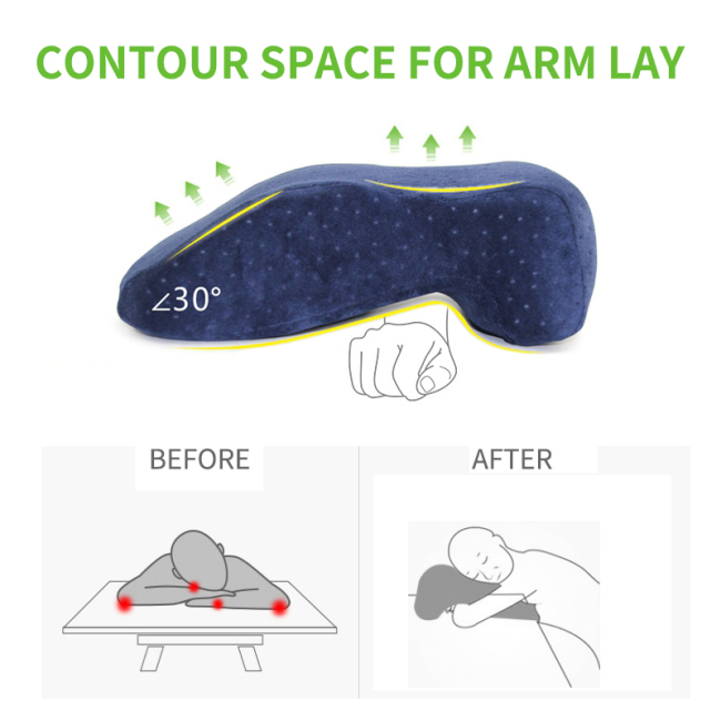 Convenient Soft  Multi function Memory Foam Nap Sleep Pillow  Short Rest Desk Sleep Pillow Sleep Cushion