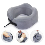 Custom Fold Ergonomic Orthopedic Chin Neck Support Pillows U Shaped Airplane Memory Foam Travel Pillow