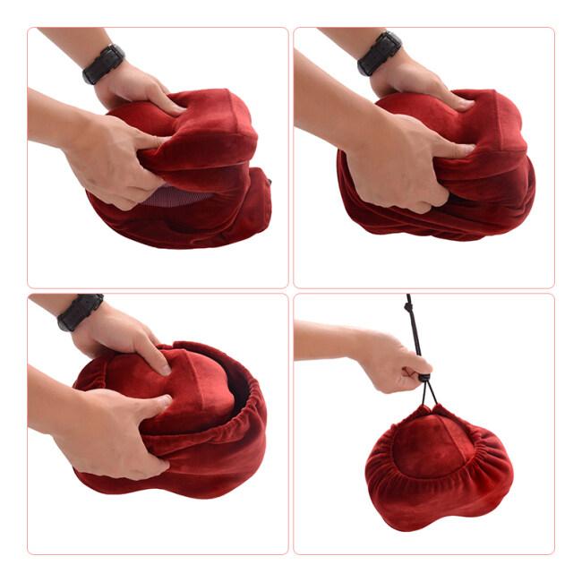 Custom Foldable Ergonomic Orthopedic Neck Support Pillows U Shaped Airplane Pillow