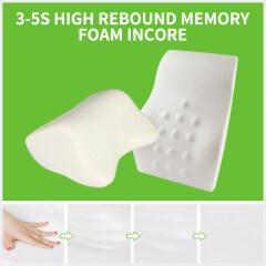 Soft  High Rebound  Memory Foam  Car Drive  Back  Support  Lumbar Cushion Head Pillow