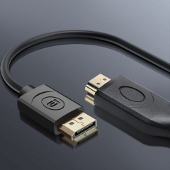 Wholesale Black Male to Male Display Port to HDMI Adapter 4K 1080P DP to HDMI Cable