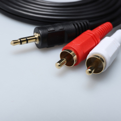 PCER 2RCA to audio cable 3.5mm jack rca aux cable 1.5m 3m 5m 10m 15m For Multimedia Edifer Home Theater DVD 2RCA audio cable