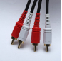 Audio Line Cable 2RCA to 2RCA Male to Male Audio Cable RCA Audio Cable 1.5m 3m 5m for Home Theater DVD TV Amplifier CD Soundbox