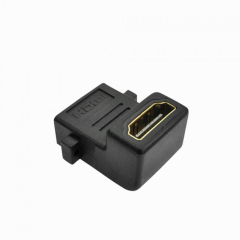 PCER HDMI ADAPTER RIGHT ANGLE 90°CONVERTER FEMALE TO FEMALE ADAPTER