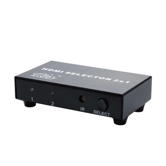 HDMI Selector 2X1 3D Full HD 1920*1080P 60Hz HDMI Switcher 2 in 1 out Splitter with Remote Control
