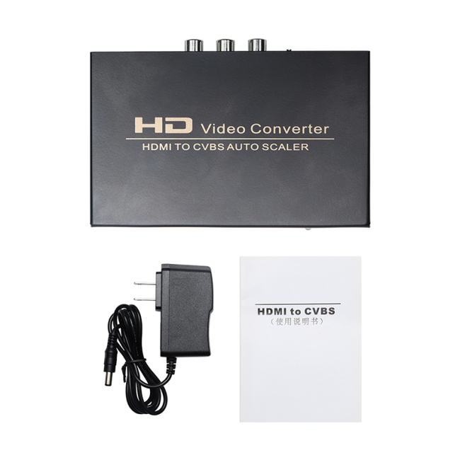 HDMI to AV Converter HDMI to CVBS AUTO 1080P 60Hz HDMI to AV Switcher