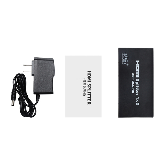Manufacture Black 4K*2K 1250P HD HDMI Switcher 1 in 2 Out HDMI Splitter 1x2