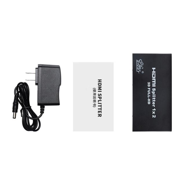 Manufacture Black 4K*2K 1250P HD HDMI Switcher 1 in 2 Out HDMI Splitter 1x2