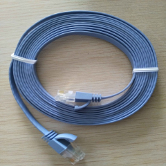 Slim Flat Type UTP Network Cable Cat6 Cable 10M easy for collecting