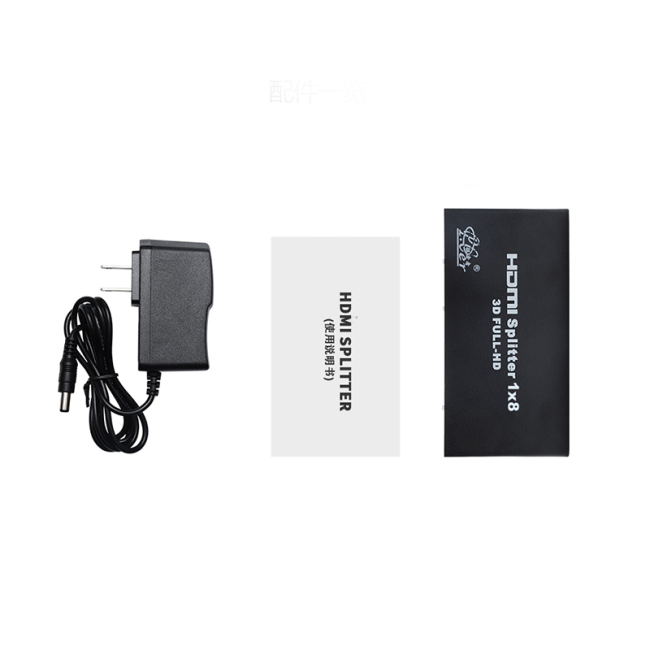 Wholesale  4K*2K 1250P HD HDMI Switcher 1x8 HDMI Splitter