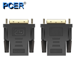 DVI male Converter DVI to HDMI 1920*1080P resolution Support for Computer Display Screen projector tv DVI adapter HDMI adapter