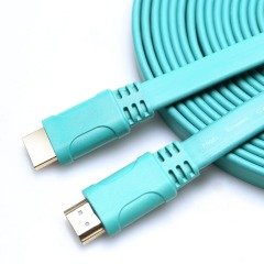 Flat HDMI Cable oxygen-free copper 4K*2K 3D image HDMI Cable 3840*2160 4K 60hz 30hz gold-plated
