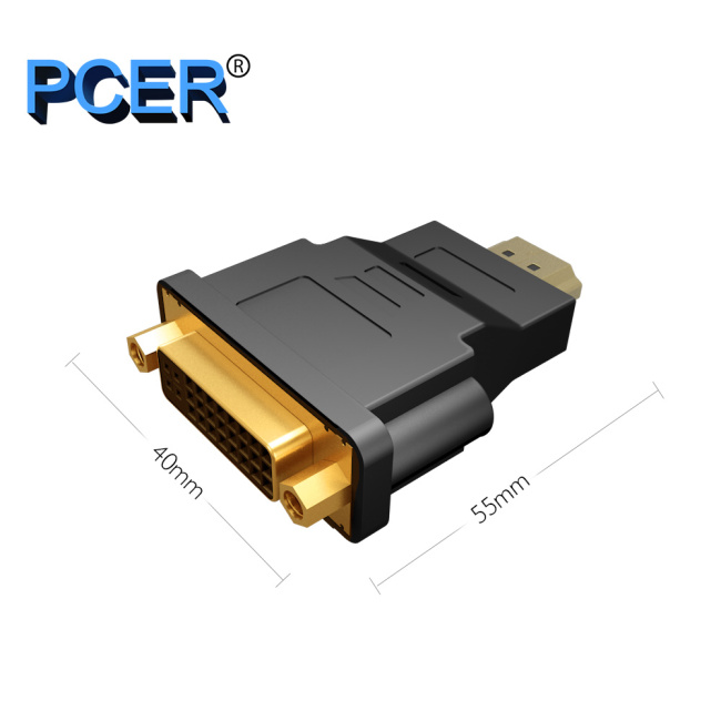 PCER Converter DVI Female to HDMI male 1920*1080P Support for Computer Display Screen projector tv DVI adapter HDMI adapter