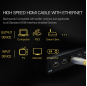 PCER HDMI Cable 2.0 HDMI to HDMI HDR 4K 3D Splitter Extender Adapter Nintend Switch PS4 for Xiaomi TV Box Xbox 20m Cable HDMI