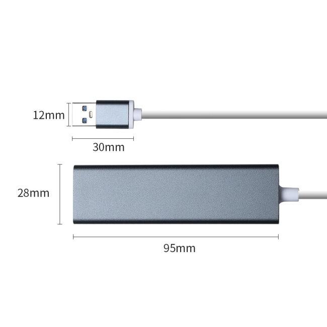 PCER USB HUB USB3.0 HUB Ethernet USB to LAN HUB USB Adapter converter Network Card USB LAN