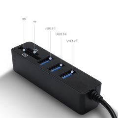 PCER USB Hub 2.0 Multi USB Splitter High Speed 3Hab TF SD Card Reader All In One For PC Computer Accessories
