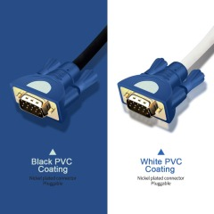 PCER VGA Cable 3+4 foil Shielding VGA To VGA Cable For HDTV PC Laptop TV Box Projector Monitor cable vga cord 1920*1080P