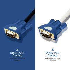 PCER VGA Cable 3+4 foil Shielding VGA To VGA Cable For HDTV PC Laptop TV Box Projector Monitor cable vga cord 1920*1080P