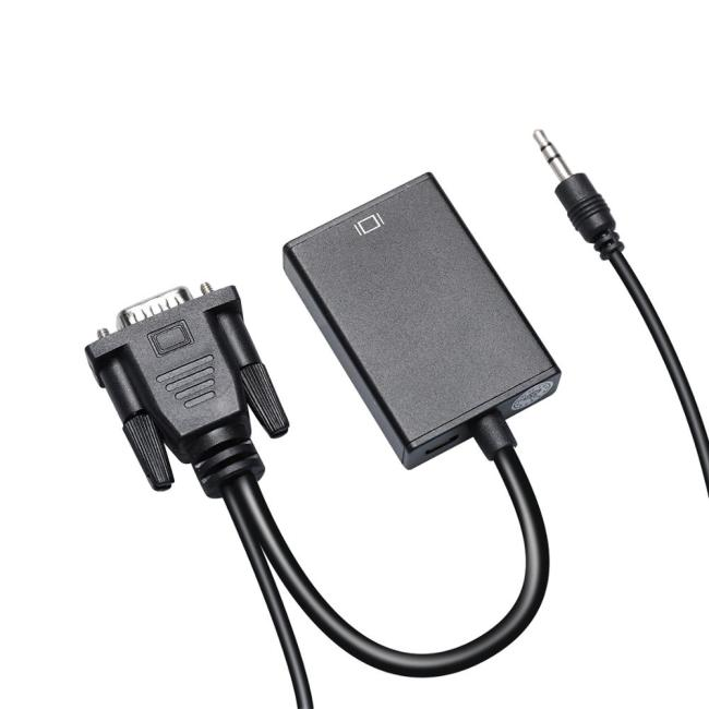 PCER VGA to HDMI adapter male to female VGA HDMI converter extra USB audio cable for Computer Display Screen projector tv