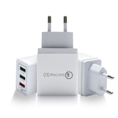US standard cellphone USB adapter for Samsung A50 A30 iPhone 7 8 Huawei P20 Tablet QC 3.0 Fast Wall Charger 48W US EU UK plug