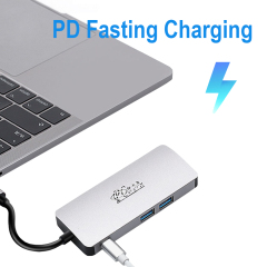 USB C HUB To USB3.0 HDMI VGA RJ45 Gigabit Ethernet SD/TF PD charge Adapter USB C docking station type c hub converter 8 in 1