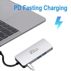 USB C HUB To USB3.0 HDMI VGA RJ45 Gigabit Ethernet SD/TF PD charge Adapter USB C docking station type c hub converter 8 in 1