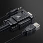 VGA HDMI Cable male to male For PC Monitor HDTV Projector VGA TO HDMI cord with extra USB audio cable wire