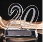 Crystal trophy custom creative 10th anniversary crystal glass trophy