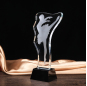 Creative dancing crystal trophy order for gymnastics dance award gift