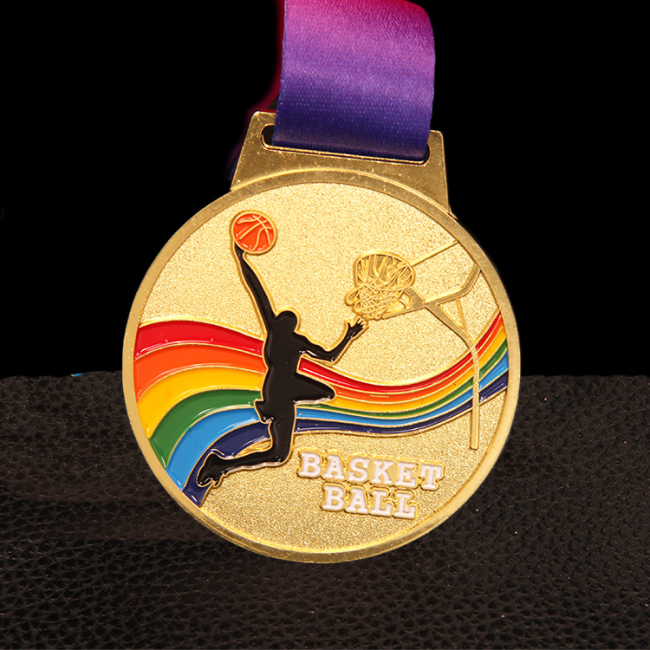 Customized basketball match plated medal apply to sports meet
