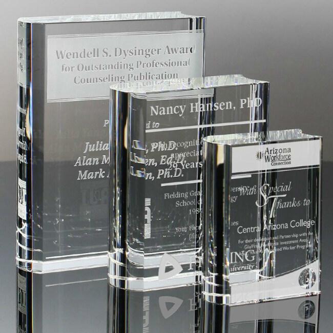 Crystal Award Book Shape Blank Crystal Trophy Business Crystal Award Plaques