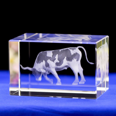 Beautiful top quality feature 3D laser crystal engraving carriage crystal crafts