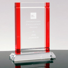 Wholesale k9 Crystal Rectangular Blue Red Green Black Edge Crystal Award Optical Crystal Trophy with base