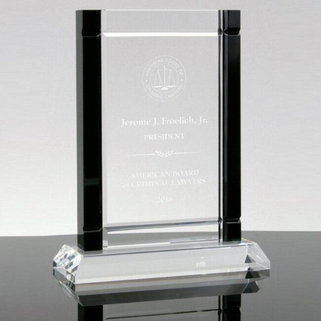 Wholesale k9 Crystal Rectangular Blue Red Green Black Edge Crystal Award Optical Crystal Trophy with base