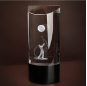New Crystal half cube trophies laser engraving trophy crystal sports golf Crystal Trophies/3d trophy