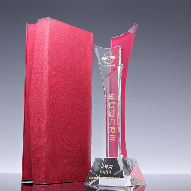 85*85*300mm Two-tone Wave Trophies, Award Trophy, CT1162